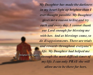 My Daughter had helped me through the most difficult times of my life