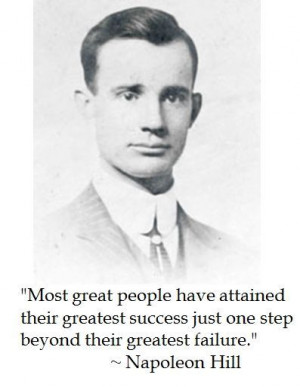 Napoleon Hill on success