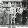 Farooq Abdullah with father Sheikh Abdullah and Indira Gandhi