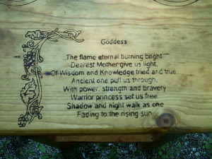 Poem of the pagan goddess Altar Stand $169.99!