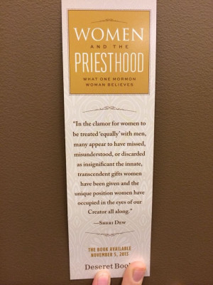 Women and the Priesthood Quote by Sherri Dew