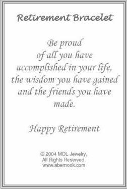 Retirement Gift Bracelet