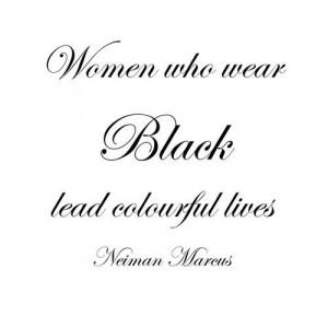 quote fashion women black wear neiman mareus