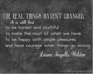 Laura Ingalls Wilder wisdom
