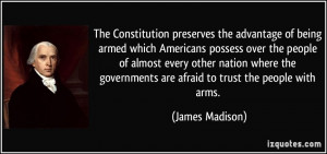 Constitution James Madison Famous Quotes