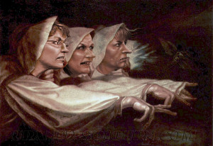 ... Three Witches from Shakespeare's Macbeth [with apologies to Johann