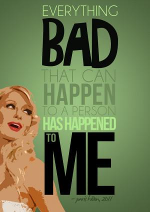 Real Celebrity Quote Posters: Paris Hilton