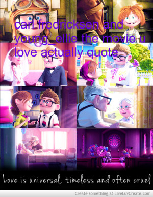 ... Fredricksen And Young Ellie The Movie Up Love Actually Quote picture
