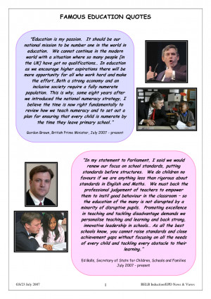 Quotations On Education By Famous People
