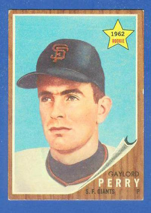 1962 Topps #199 Gaylord Perry ROOKIE [#c] (Giants) Baseball cards ...