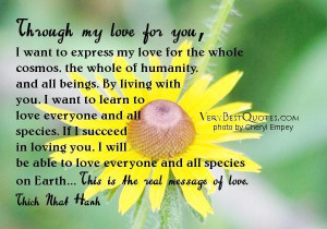Thich nhat hanh quotes real message of love