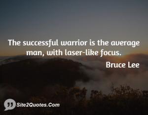 Average Man Bruce Lee Laser Focus Quotes