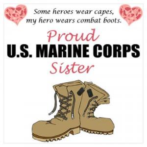 CafePress > Wall Art > Posters > Proud USMC Sister Poster