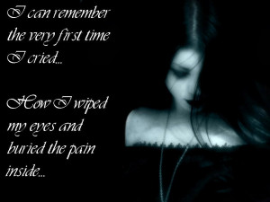 Buried The Pain Goth / Emo Wallpaper