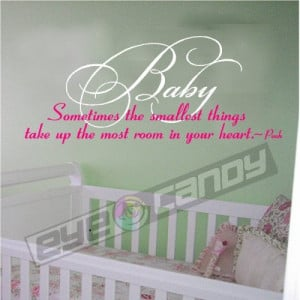 Baby...Wall Quotes Sayings Lettering Nursery Words