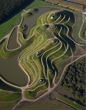 charles jencks, cosmic garden, landform, grass, land art, grass, play ...