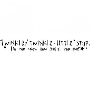 Twinkle Twinkle Little Star Muursticker Quote Muurtattoo Art gallery ...