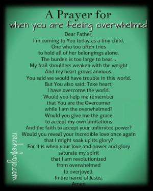 Prayer for When You Feel Overwhelmed