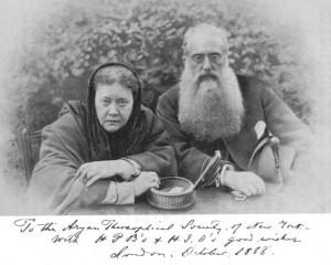Helena Blavatsky y el Coronel Olcott en 1888
