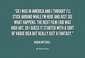 Radha Mitchell Quotes