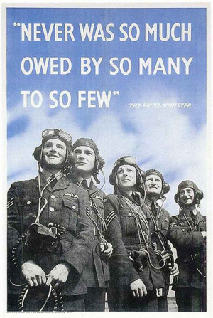 Battle of Britain poster with Churchill's 'the few'