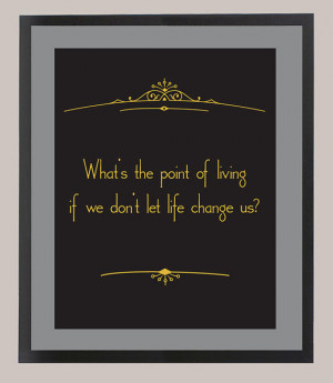 Downton Abbey Mr. Carson Quote 'What's the Point of Living' 11 x 14 ...