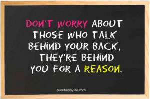 Life Quote: Don't worry about those who talk…