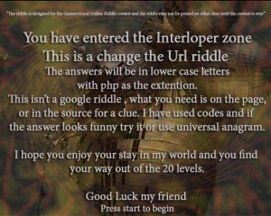 Play the riddle: http://interloper.yolasite.com/