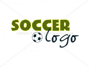 soccer logo a 3 colour soccer or football logo in light green dark ...