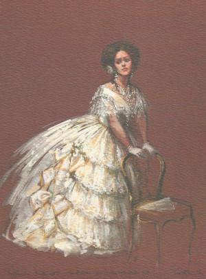 design for Kiri te Kanawa as Violetta. The Australian Opera 1978. Kiri ...