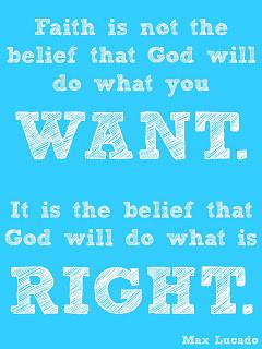 Faith is not.....