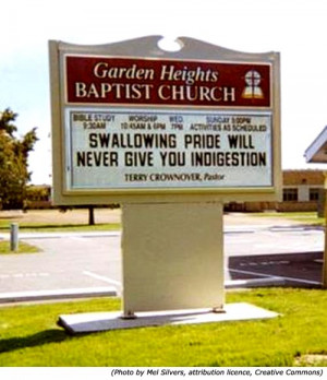 Original Church signs from Garden Heights Baptist Church: Swallowing ...
