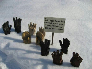 yes off course we all have more snow and more cold see our hands just ...