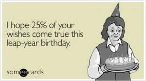Leap Year and Birthday Blues
