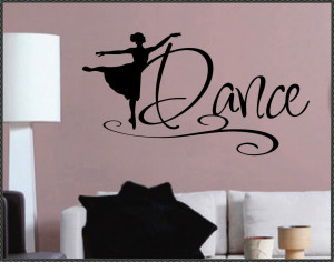 Dance Vinyl Wall Quote