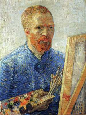Vincent van Gogh, Self-Portrait at the Easel, 1888, oil on canvas, Van ...