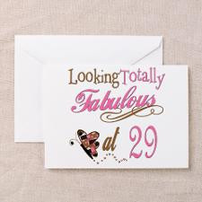 Fabulous 29th Greeting Card for