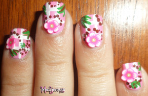 Fimo Floral Baby Nail