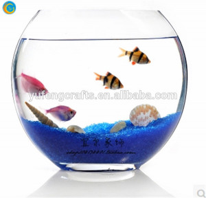 oblique glass fish bowl/glass fish tank