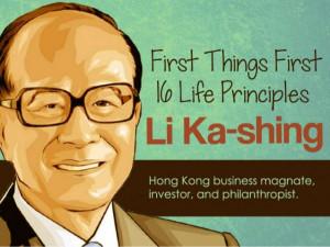 First Things First, 16 Life Principle of Li Ka-shing