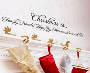 Christmas Is Family, Friends, Hope, Joy, Memories, Peace And Love.