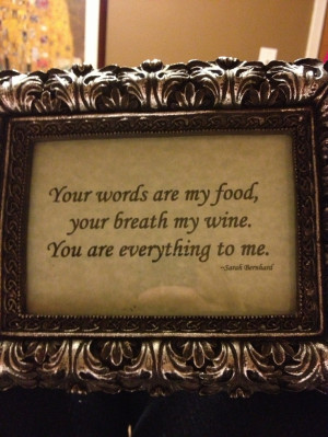 For the cake/dessert table. Food & love quote #3