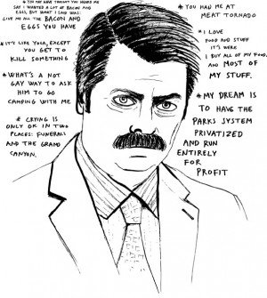 Ron Swanson Anti Government Quotes picture