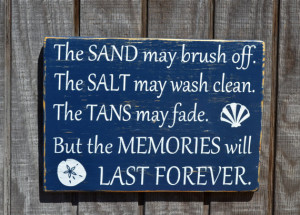 ... May Fade Lake Decor Summer Beach Wedding Quote Saying Wood Art Design