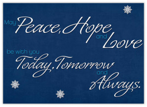 Home > Christmas Cards > Holiday Phrases > Peace > Words of Peace