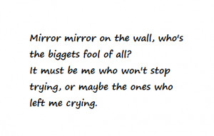 Mirror on the wall - quotes Photo