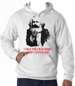 Detalles de KARL MARX CAPITALISM QUOTE AMAZING GRAPHIC HOODIE TSHIRT ...