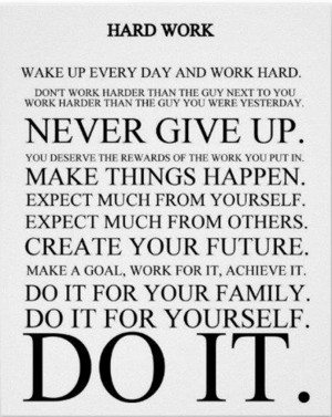 Inspirational Quote: Do the Hard Work