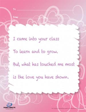 Quotes Pictures List: Teacher Appreciation Poems