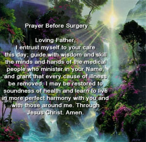 prayer for surgery